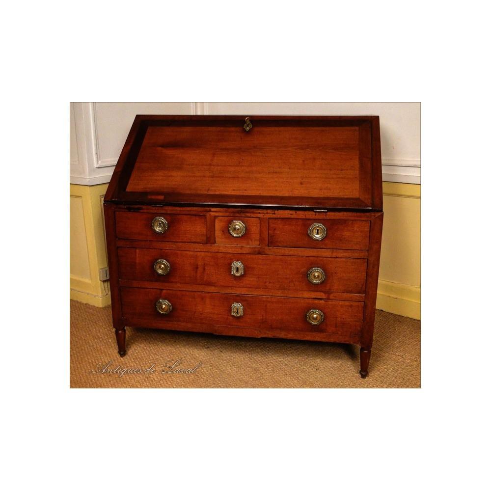 Bureau scriban en acajou massif meubles de port xviiie ebay - Meuble acajou massif ...
