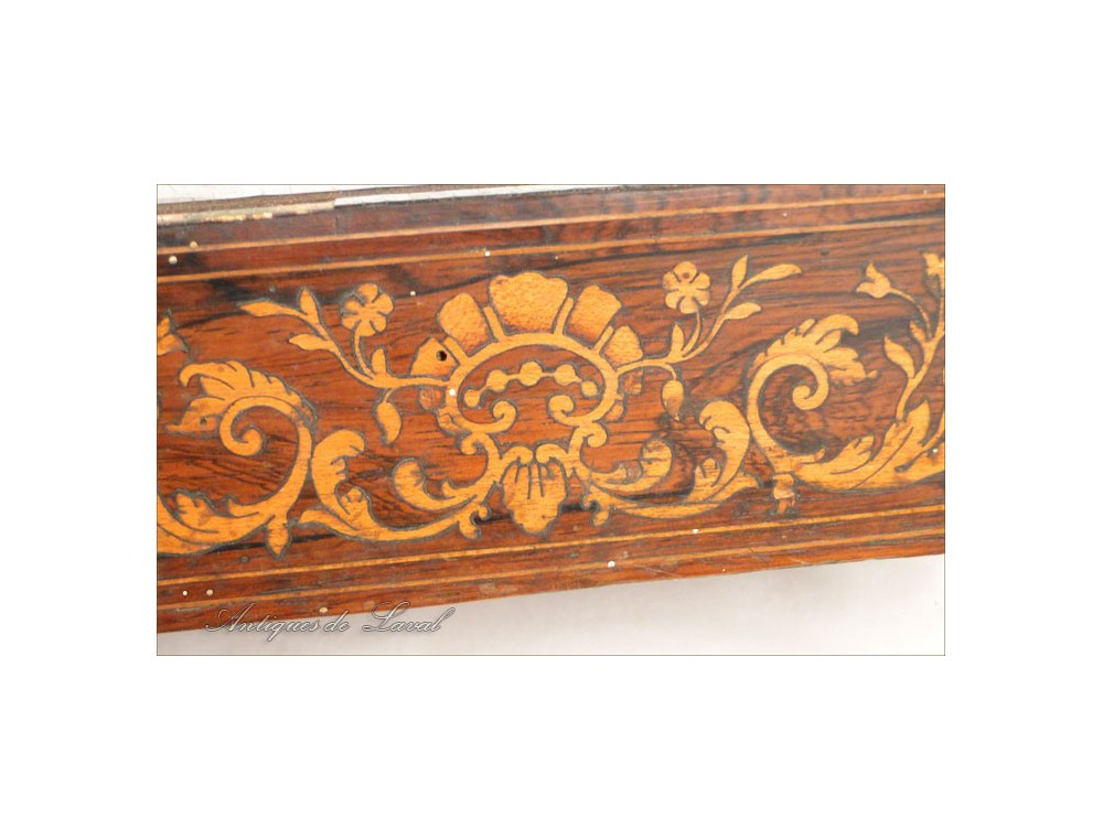 Base Clock Rosewood Marquetry Charles X 19th