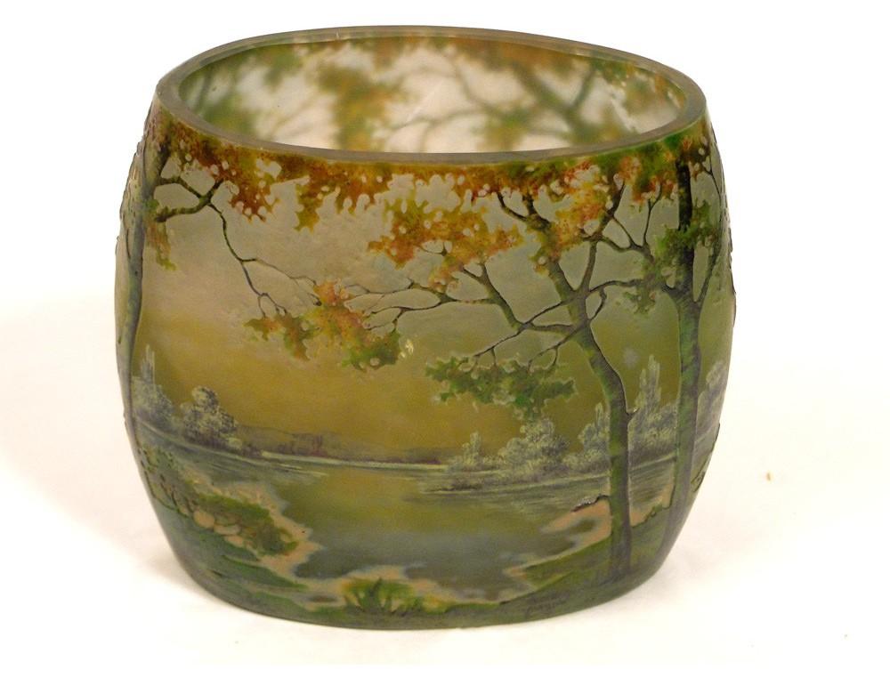 molten glass crystal vase daum nancy art nouveau nineteenth. Black Bedroom Furniture Sets. Home Design Ideas