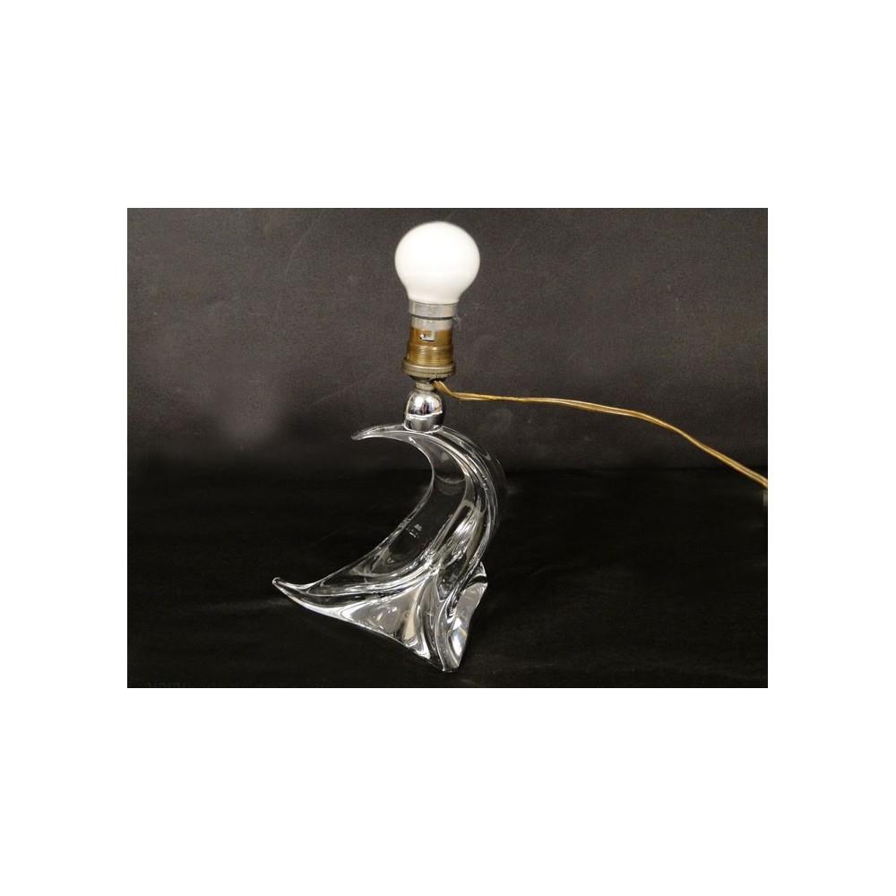 pied de lampe en cristal de saint louis france 20e ebay. Black Bedroom Furniture Sets. Home Design Ideas