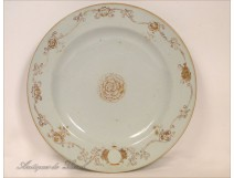 Porcelain dish of the East India Company, decorated with European Arms, eighteenth
