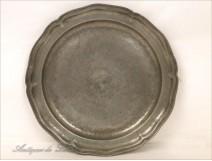 Flat Pewter Louis XV 19th