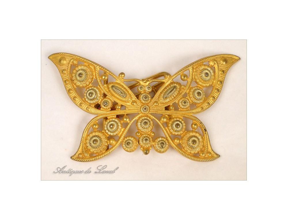 d61a8ad54e27 Agrandir. Boucle de Ceinture en Laiton Doré Papillon Art Nouveau 19e ·  Boucle de Ceinture ...