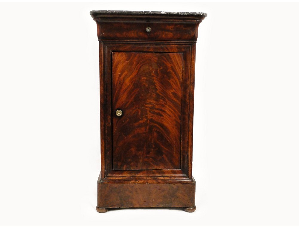 bedside table louis philippe mahogany nineteenth. Black Bedroom Furniture Sets. Home Design Ideas