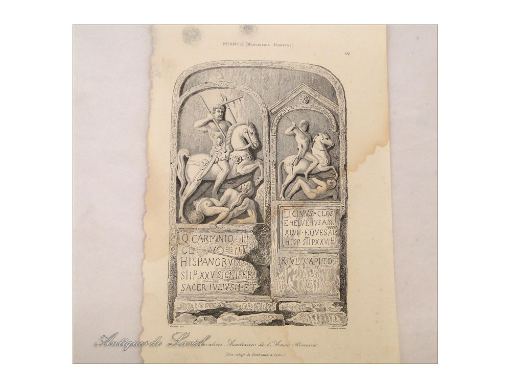 Lot 6 Etchings Sculptures Oliphant Knight Medieval 18th