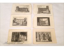 Lot 6 Engravings Palace Treves Cathedral Cloister 18th Arles