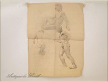 Naked Men Drawings Sketches Studies Colarossi 20