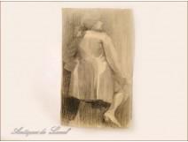 Female Sketch Drawings Study Colarossi 20th
