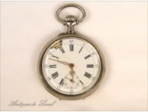 Sterling Silver Fob Watch Moeris 19th