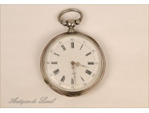 Watch Fob Sterling Silver Flowers 19th