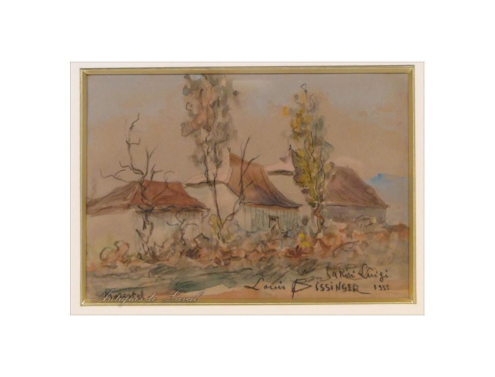 Morestel Watercolor City Of Painters By Louis Bissinger Twentieth
