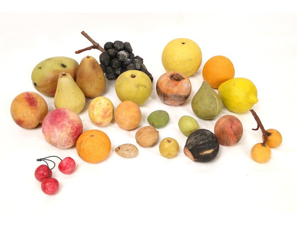 24 Fruits Décoratifs en marbre de Carrare, XIXe on