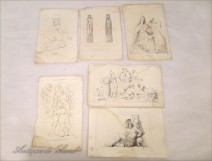 Lot 6 Characters Mythology Prints Sculptures 18th