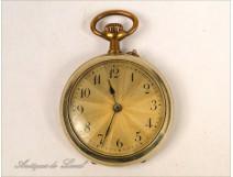 19th Golden Metal Watch Fob