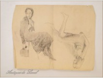 Naked Women Studies Sketchings Colarossi 20th