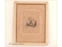 Frame Photo Holder Wood White Couple Galant 19th