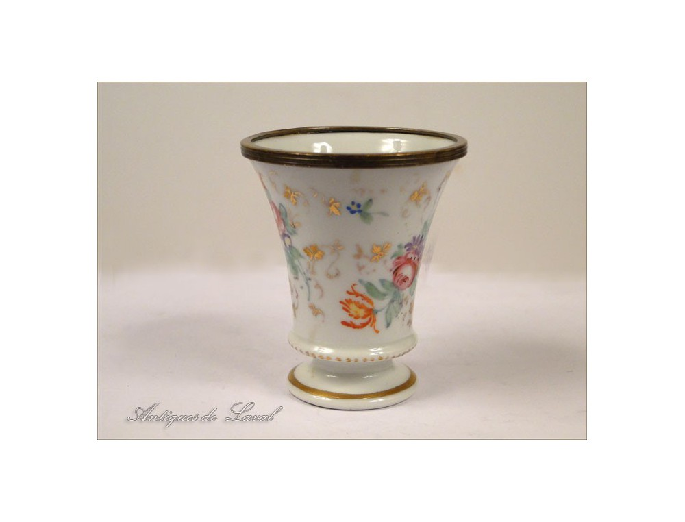 Small Vase Porcelain Flowers 20th