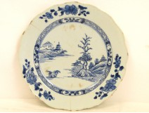 Porcelain dish Compagnie des Indes Blue Kangxi 18th