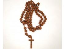 Corozo rosary Rosary Lourdes Souvenir Carved 19th