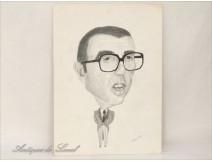 Cartoon drawing Lamo de Espinosa J.Mola 1977