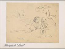 Naked Women Drawing Studies Colarossi 20th