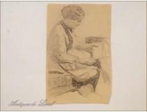 Female Portrait Drawing Studies Colarossi 20th