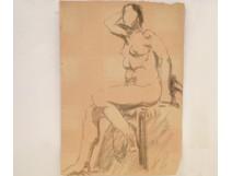 Naked Woman Drawings Study Model Laigneau Villeneuve Wallpaper Dumas