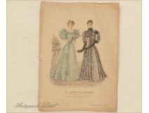 Fashion Women Elegant engraving illustrated Paris 19th
