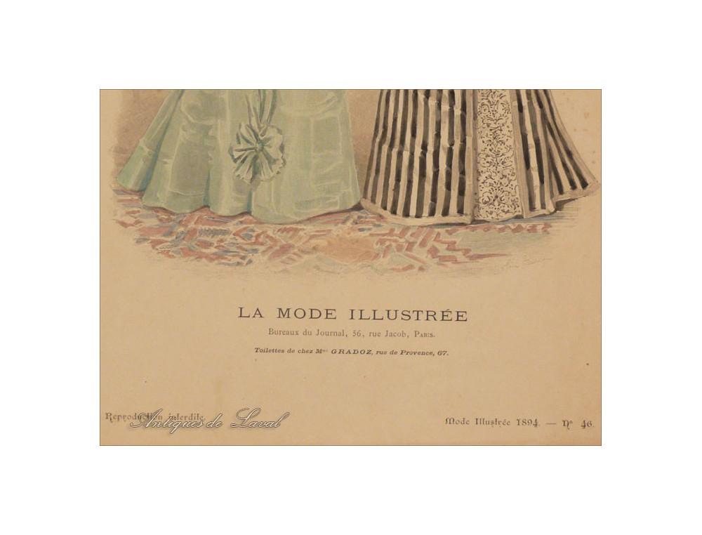Gravure mode illustrée femmes elegantes paris 19e