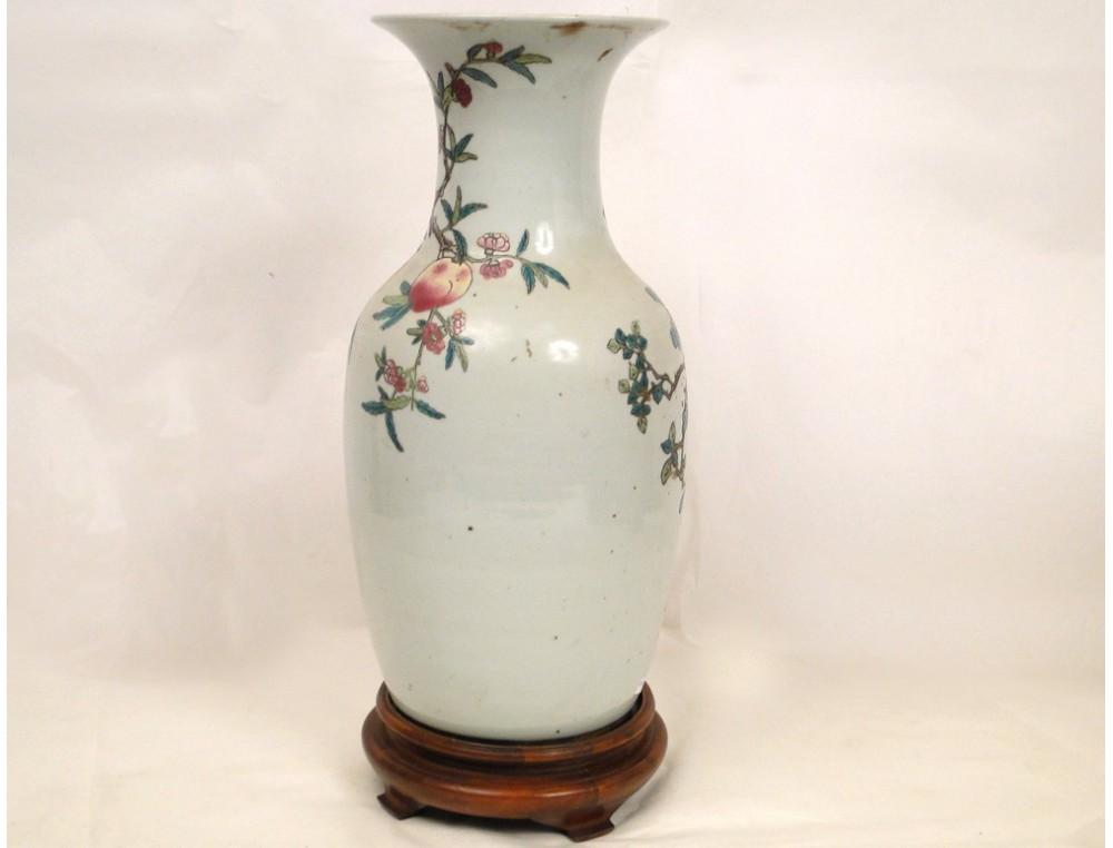 chrysanthemums vase porcelain nineteenth late bird chinese
