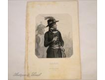 Portrait engraving Lazare Carnot Battle Wattingnies 19th