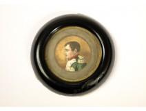 Miniature painted portrait Emperor Napoleon I, XIX