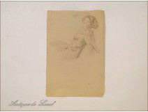 Naked Women Drawings Study Colarossi 20th