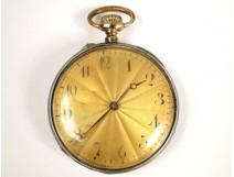 Masonic pocket watch solid silver niello, decorated with attributes franc-masons, twentieth