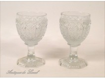 Crystal stemware from St. Louis or Baccarat, nineteenth