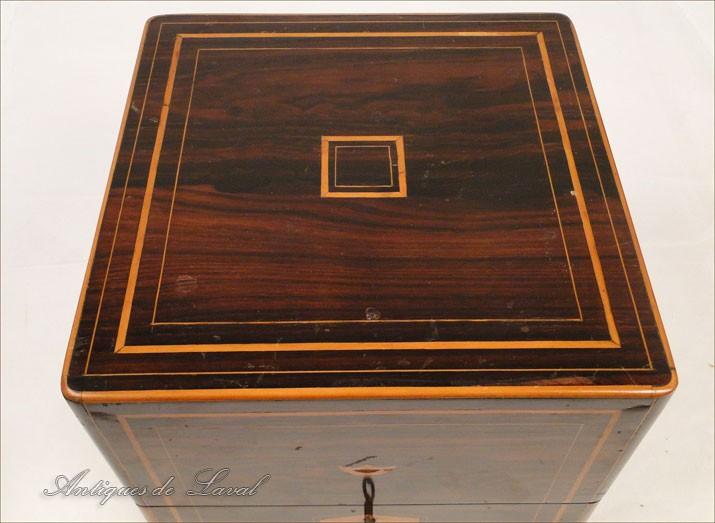 cave liqueur charles x en palissandre verre en cristal xixe ebay. Black Bedroom Furniture Sets. Home Design Ideas