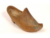 Carved Wood Souvenir shoe Vals-Les-Bains Ardèche 20th Folk Art