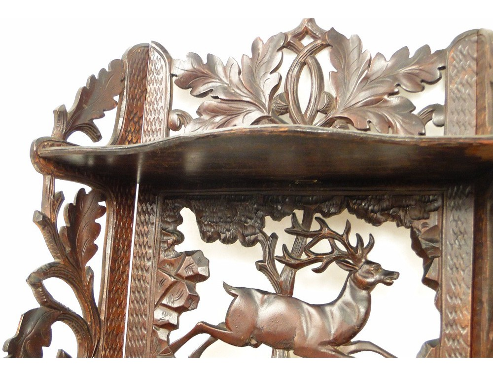 Wall Shelf Carved In The Black Forest Decorated With A