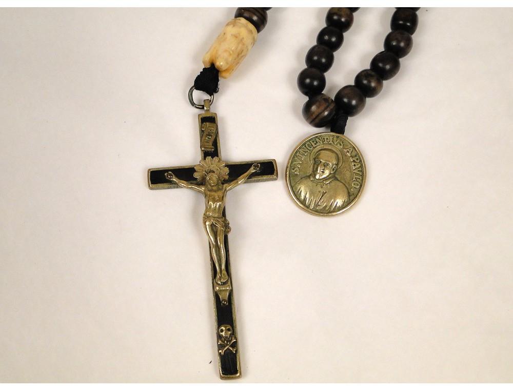 Rosary Rosary Crucifix Wood Cross Christ Ebony St Vincent
