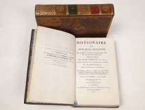 Notionnaire memorial books or reasoned From Garsault 2 volumes XIX 1805