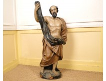 Wooden statue of Saint Leger seventeenth