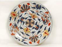 China Imari porcelain plate decorated gilt rosette flowers eighteenth Chinese
