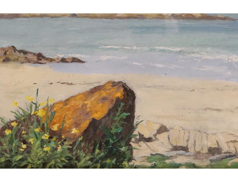 Hsc Breton Landscape Seascape Sea Beach Rocks Nineteenth
