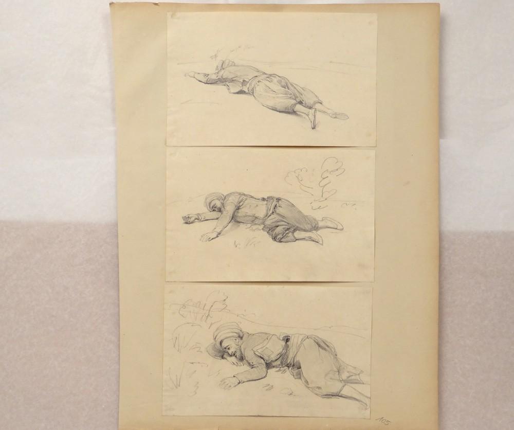 Dessin Representant La Mort dessins théodore gudin étude portrait homme mort algérie