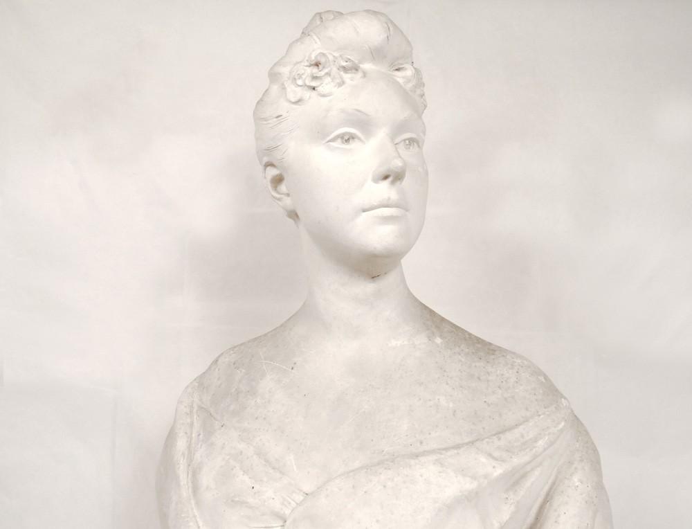 sculpture buste en pl tre jeune femme noble aristocrate xviii me si cle ebay. Black Bedroom Furniture Sets. Home Design Ideas