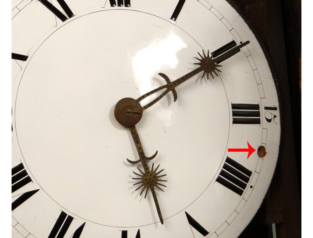 Grandfather Clock Norman Saint Nicolas Carved Oak Flowers