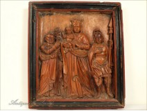 Bas-Relief, Virgin and Child and Saints, eighteenth