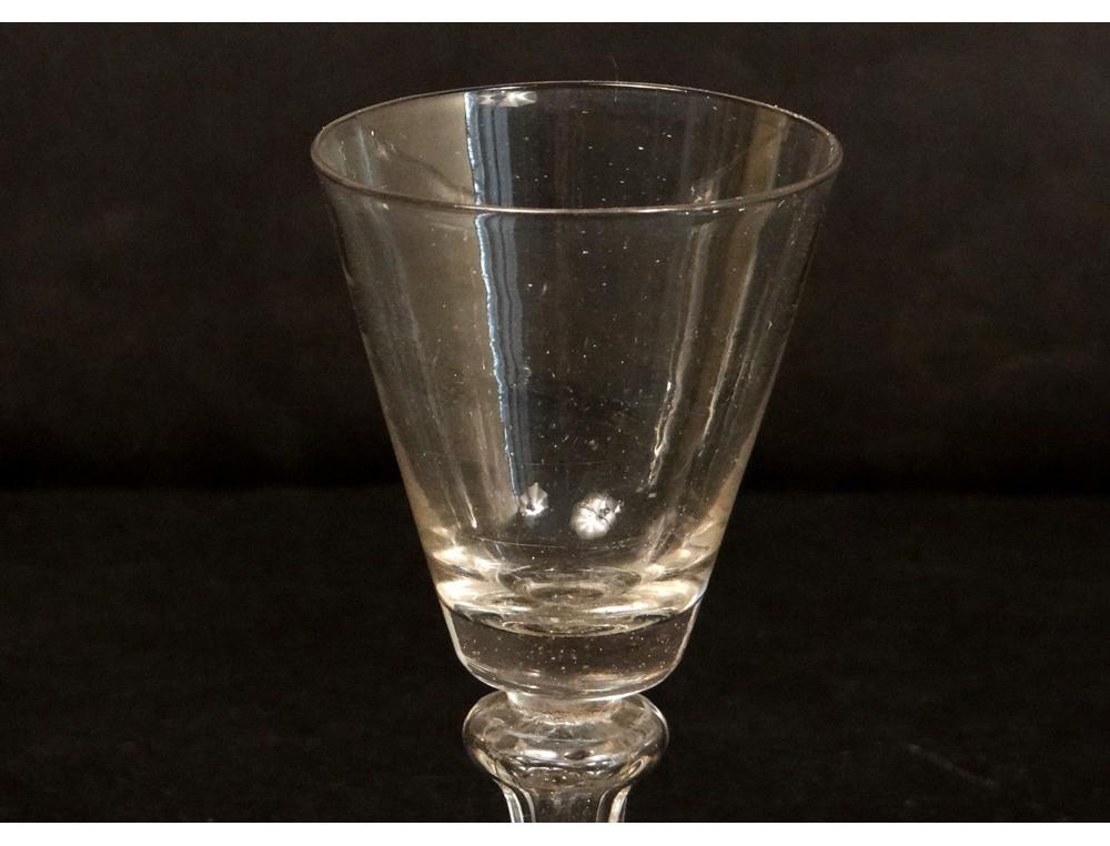 Goblet Leg Blown Glass Antique Eighteenth Century