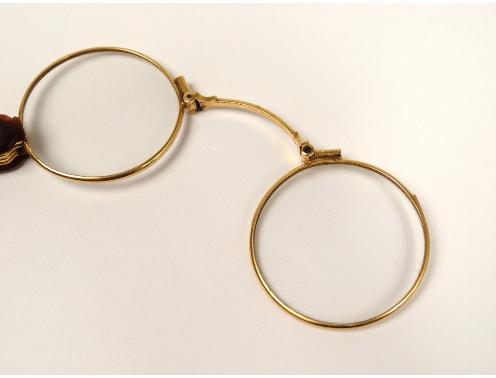 Glasses eyeglasses 18k solid gold eagle head Napoleon III ...
