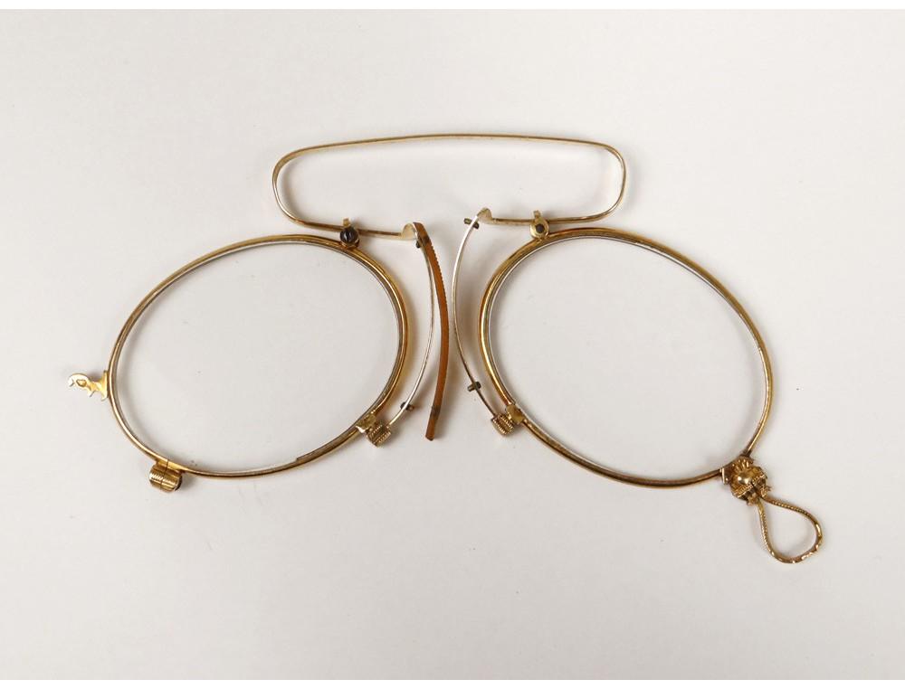 Solid Gold Eyeglass Frames : Pince-nez glasses eyeglass solid 18k gold eagle head ...